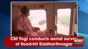 CM Yogi conducts aerial survey of flood-hit Siddharthnagar