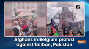 Afghans in Belgium protest against Taliban, Pakistan