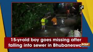 15-yr-old boy goes missing after falling into sewer in Bhubaneswar