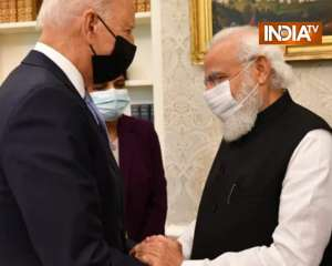 PM Modi meets Joe Biden in White House, discussion on issues like COVID-19 and climate change