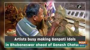 Artists busy making Ganpati idols in Bhubaneswar ahead of Ganesh Chaturthi