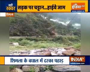 Another landslide hits Himachal Pradesh, blocks NH5 | Watch Video