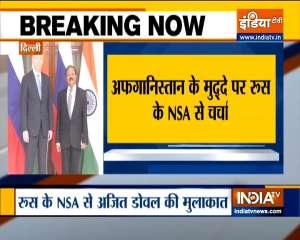 Delegation-level meeting of NSA between India & Russia underway in Delhi