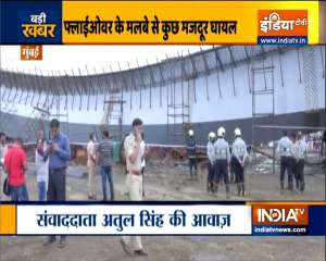 Under-construction flyover in Mumbai's BKC collapses, many labourers injured