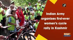 Indian Army organises first-ever women's cycle rally in Kashmir