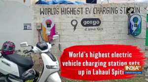 World's highest electric vehicle charging station sets up in Lahaul Spiti
