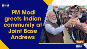 Watch: PM Modi greets Indian community at Joint Base Andrews