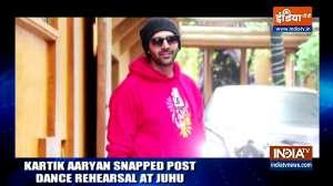 Kartik  Aaryan snapped post dance rehearsal at Juhu