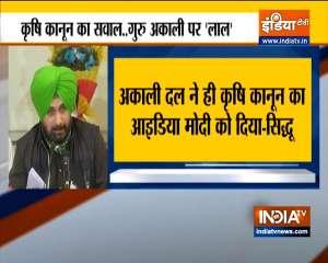Akali Dal laid foundation of three Farm Laws, claims Navjot Singh Sidhu