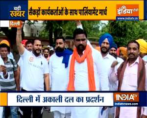 Farmers' protests complete one year, Akali Dal stages protest in Delhi