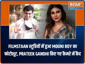 Mouni Roy was papped at Filmistan Studios, Pratik Gandhi at airport