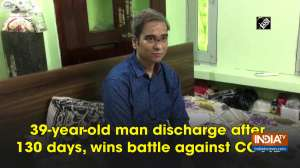 39-year-old man discharge after 130 days, wins battle against COVID