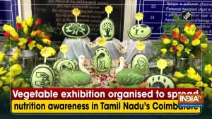 Vegetable exhibition organised to spread nutrition awareness in Tamil Nadu's Coimbatore