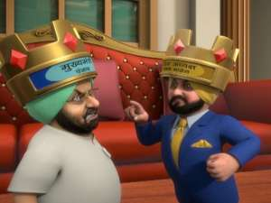 OMG: Captain and Sidhu play 'Snake and Ladder'!