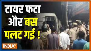 1 dead, 3 injured after bus falls from flyover in UP's Ghaziabad