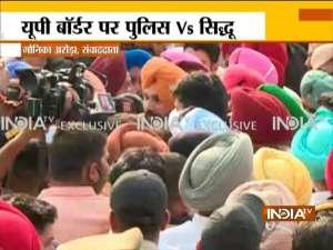 Ground Report | Lakhimpur Kheri Violence: Navjot Sidhu's convoy stopped at UP border