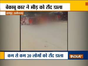 Chhattisgarh: One killed, over 20 injured as car runs over crowd during Durga puja