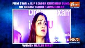 Actress Khushbu Sundar on breast cancer